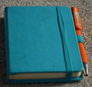 Ryman Pocket Notebook in Teal, with a 7 year pen.