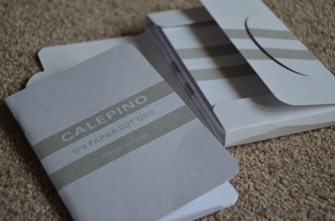 Calepino Notebook No.4 Papier Dot Grid with the Calepino Packet Box