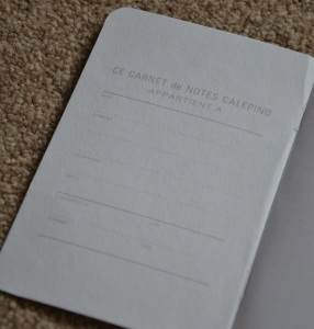 Inside the Front Cover of the Calepino Notebook
