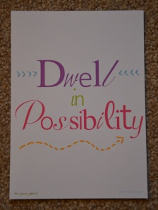 Mini Inspirational Print included in the Happy Paper Club July 2015 Box
