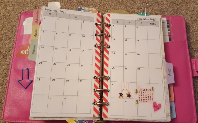 Paperchase Personal Organiser - Monthly Calendar Insert