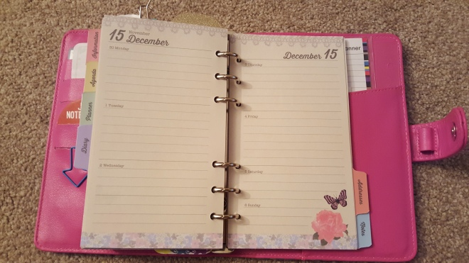 Paperchase Personal Organiser - Weekly Insert