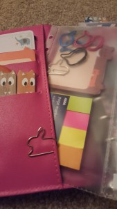 Paperchase Personal Organiser pocket with Page Flags & Sticky Notes