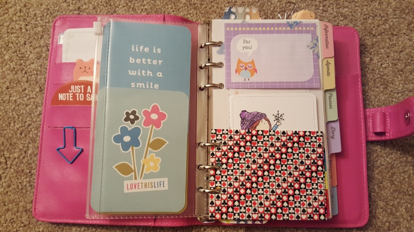 Paperchase Personal Organiser Planner set up