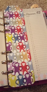Monkey Washi Tape planner page marker / bookmark