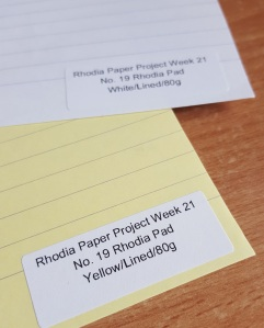 Rhodia Paper Project Week 21 Samples Yellow & White