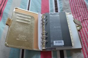 Filofax Gold Saffiano Personal Organiser (18)
