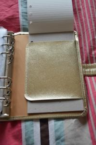 Filofax Gold Saffiano Personal Organiser (45)