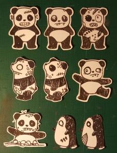 Halloween Characters - Pandas & Penguins