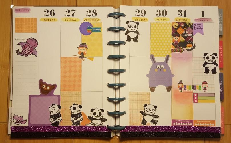 Halloween Planner - weekly spread