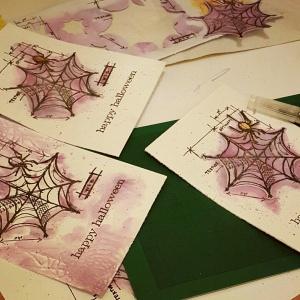 Halloween Cards - Spider Web