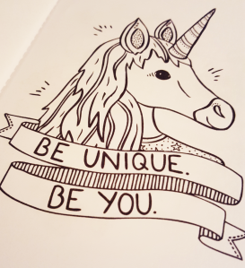 CheekyBoo Positive Thoughts Unicorn Colouring Book