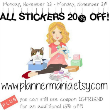 Plannermania Etsy Sale