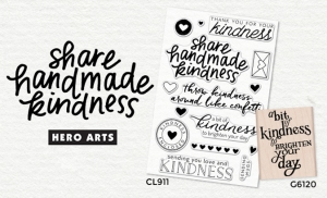 Share Handmade Kindness stamps by Hero Arts
