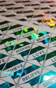 Foil Inspirational Flag Stickers
