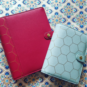 Kikki K Honeycomb Dark Mint & Dark Cherry Planner