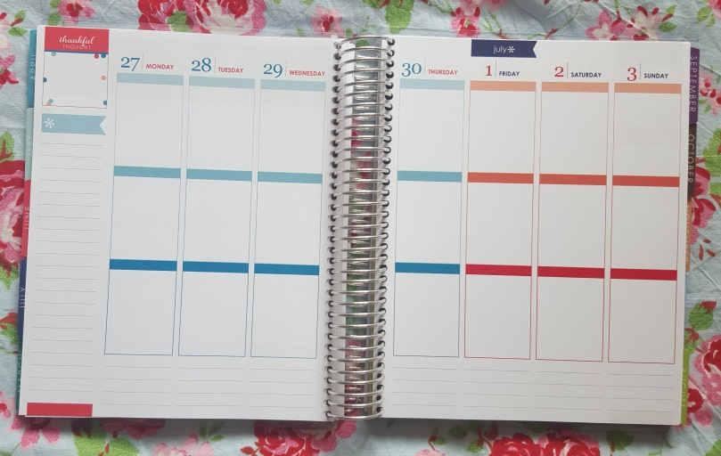 Erin Condren LifePlanner 2016 Weekly Spread
