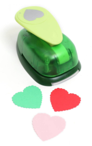 Scalloped heart paper punch from Hobbycraft