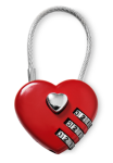 Heart shaped padlock from Tiger